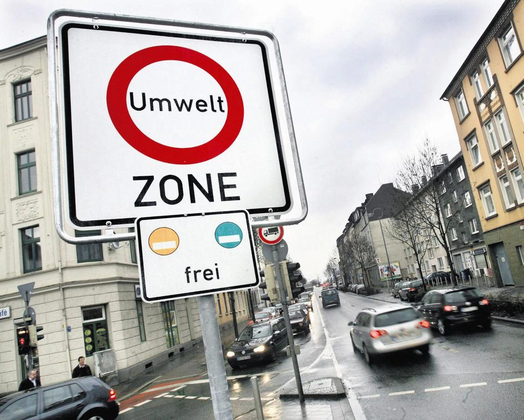 Distintivo ecológico para circular en auto por el centro de Berlín